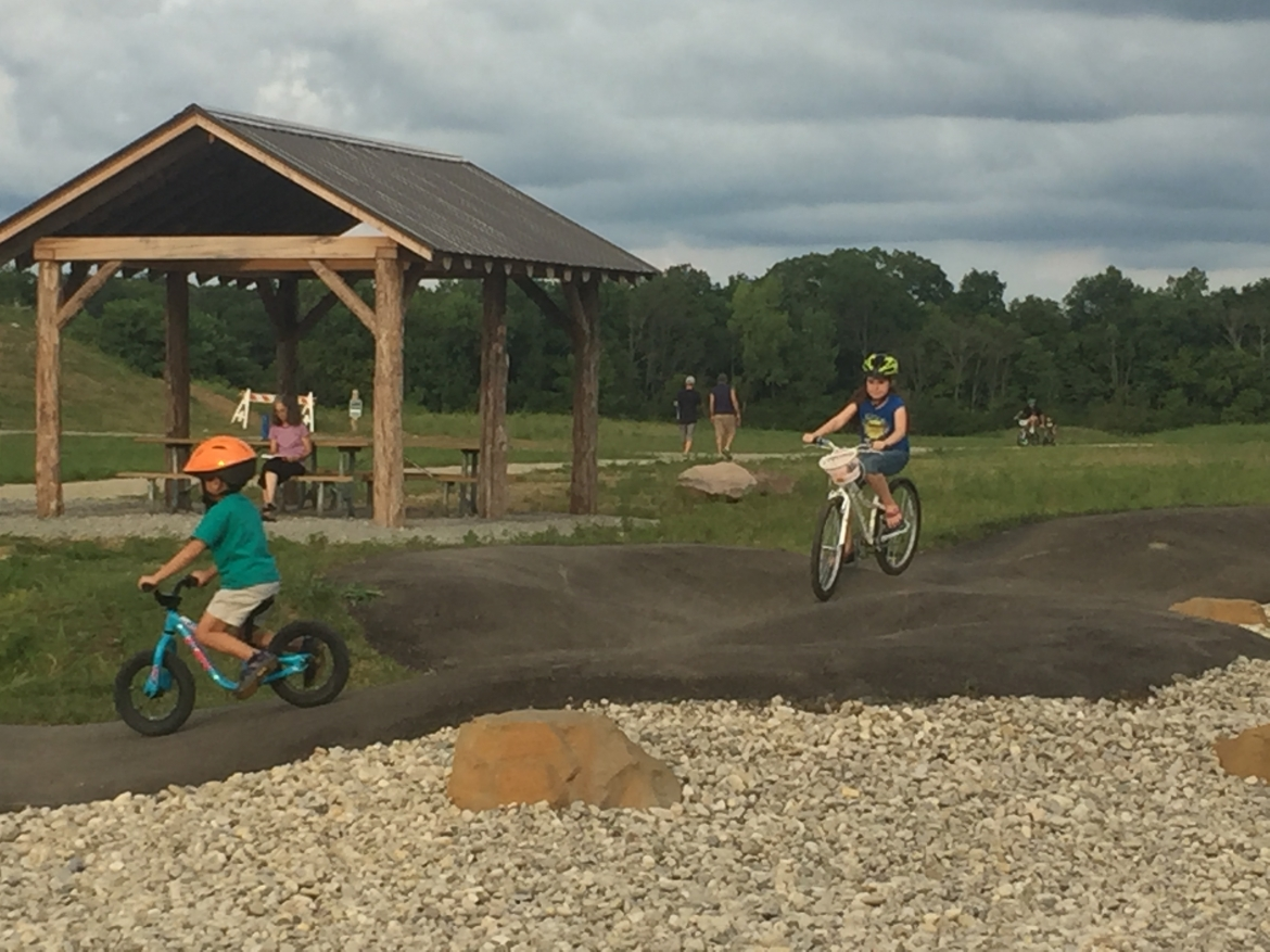 Premier Health Bike Park Shelter & Pump track