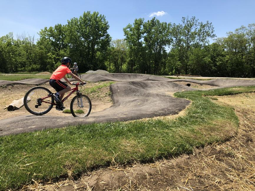Rider on Beginner Pump Track